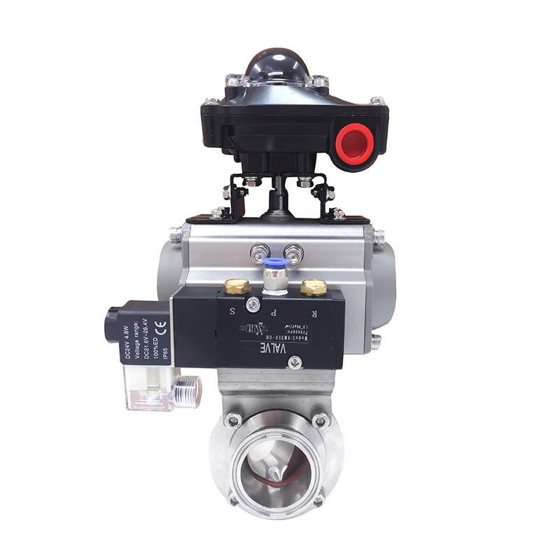 Sanitary Tri Clamp Butterfly Valves with Pneumatic Actuator