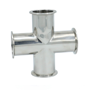 Sanitary Stainless Steel Connection Forged Pipe Fitting Cross