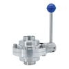 Stainless Steel Sanitary Hygienic Weld Butterfly Type Ball Valves