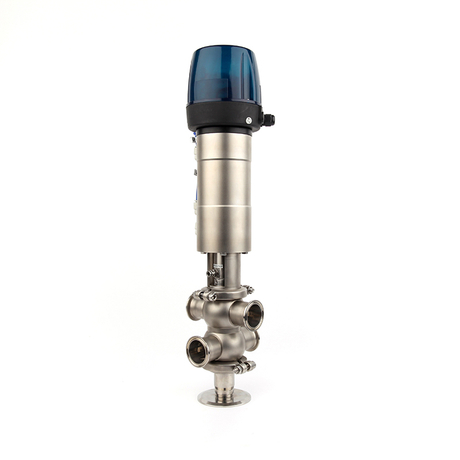 Sanitary Double-seat Mix-proof Valves with Smart Controller 24VDC