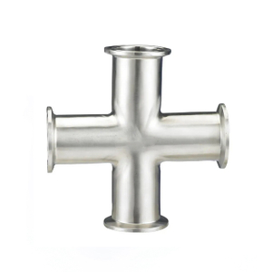 Sanitary Stainless Steel Pipe Fitting Clamp Type Cross
