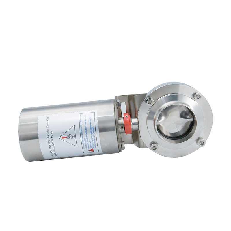 Stainless Steel Sanitary Pneumatic Air Operated Welding Butterfly Valve