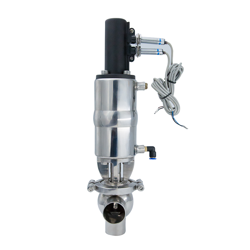 Sanitary LL Pneumatic Diverter Valves with Proximity Sensor