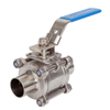 Stainless Steel Sanitary 3PCS Full Bore Ball Valve