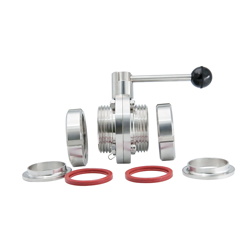 Stainless Steel Hygienic Sanitary Manual Ends Butterfly Valves