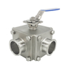 Sanitary Stainless Steel Two Ways Non-detention Ball Valves