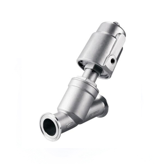 Stainless Steel Sanitary Pneumatic Clamp Angle Seat Valve