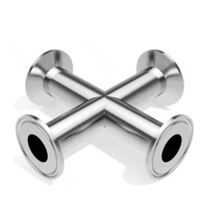 Sanitary Stainless Steel Four Way Clamp Type Cross