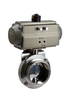 Stainless Steel Sanitary Tri-clamp Butterfly Valves with Eletric Actuator