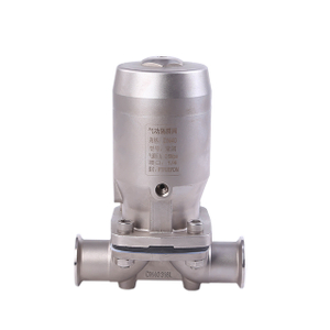 Sanitary 304 Stainless Steel Pneumatic Straight Diaphragm Valve