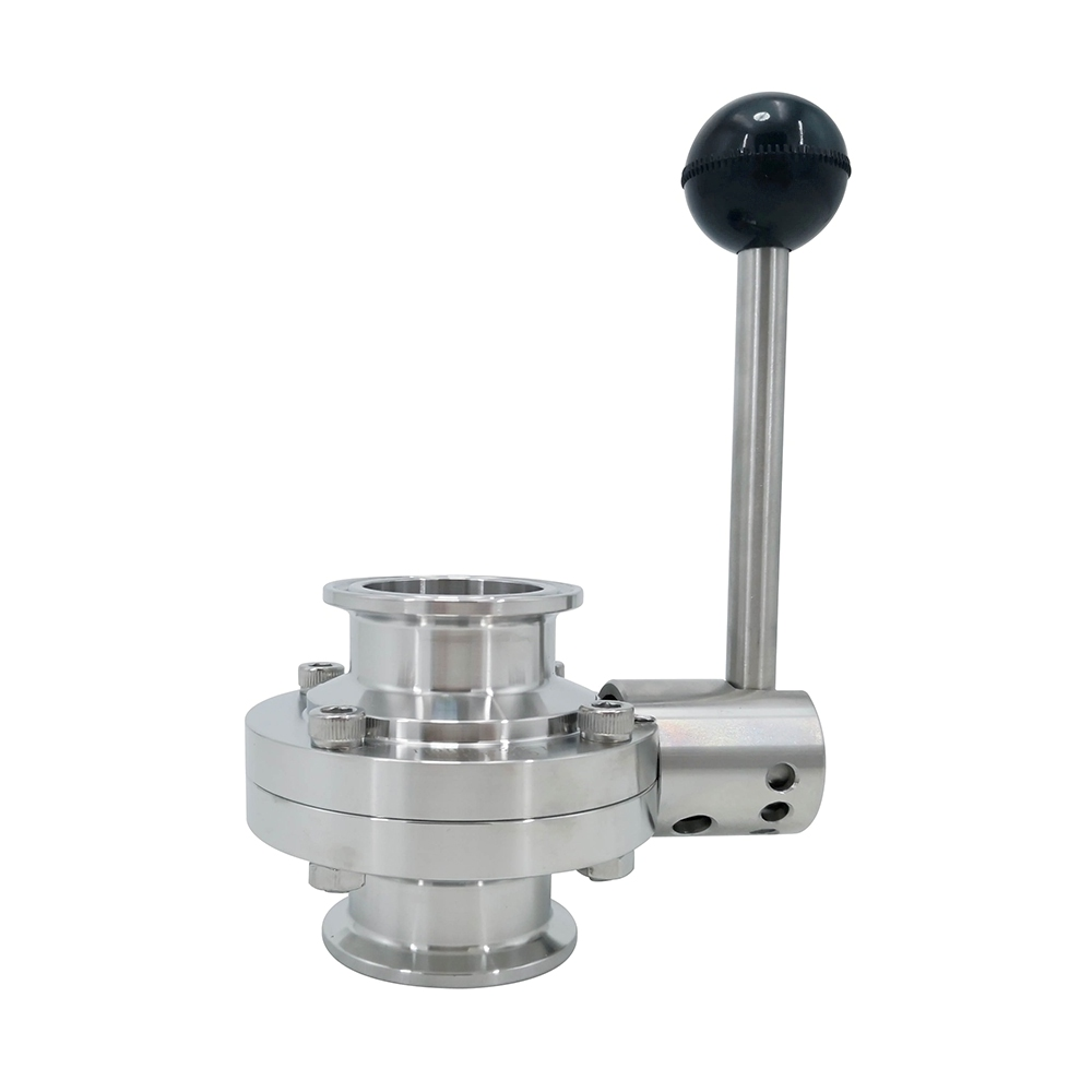 Sanitary Stainless Steel Tri Clover Manual Butterfly Valves