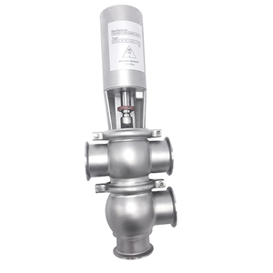 Stainless Steel Sanitary Pneumatic Diverter Double Seat Valves