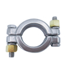 Sanitary Pipe Fitting Double Pin Clamp Ferrule Assembly
