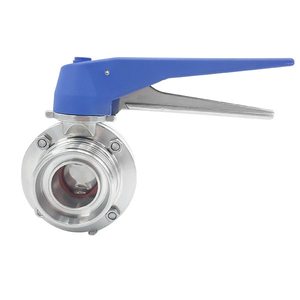 Sanitary Manual Male Butterfly Valves with Gripper Handle
