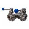 Stainless Steel AIS316L Sanitary Three Ways Butterfly Valves