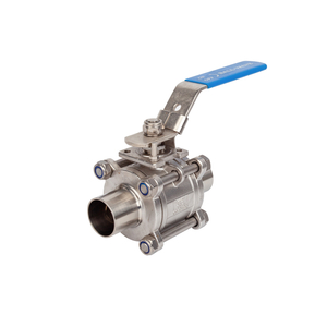 Food Grade Sanitary Hygienic Butt-weld 3PCS Ball Valves