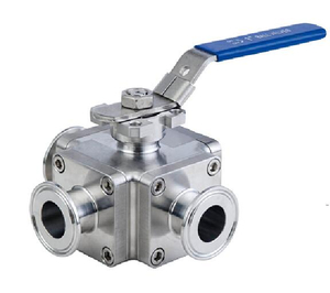 Sanitary Three ways T-Port Non-detention Ball Valves