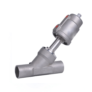Sanitary Stainless Steel Pneumatic Welding Angle Seat Valve