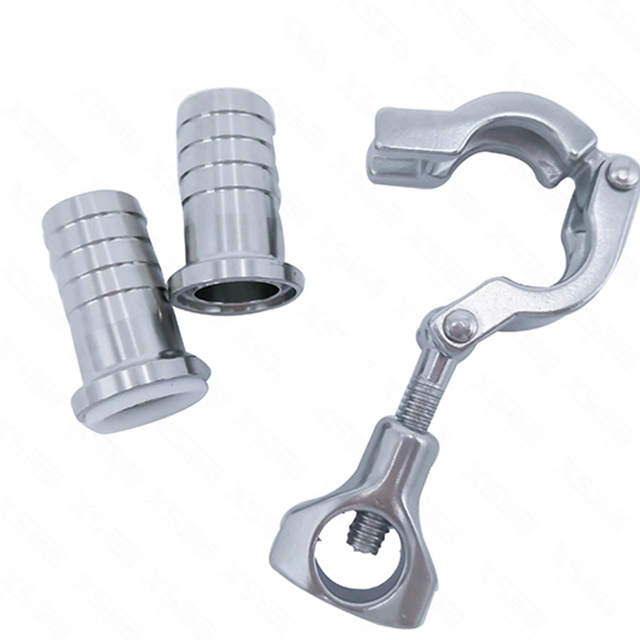 Sanitary Pipe Fitting Tri Clamp Barb Hose Adapter