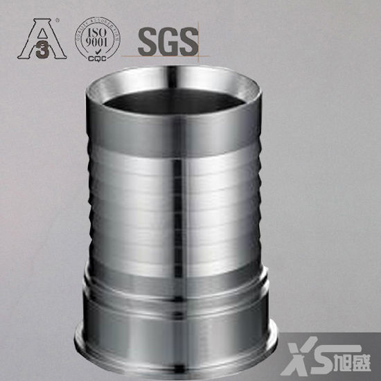 Stainless Steel Fittings Hygienic Hose Adaptor with Collar