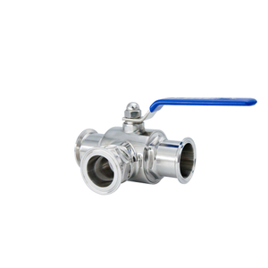 Stanitary Stainless Steel Quick Installation Three Way Threaded Ball Valve