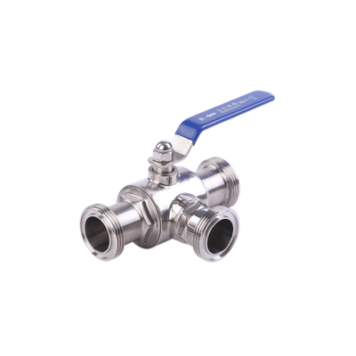 Stanitary Stainless Steel Three Way Thread Ball Valve