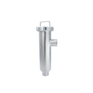 Sanitary Angular Strainer with Mesh Filter Cartridge